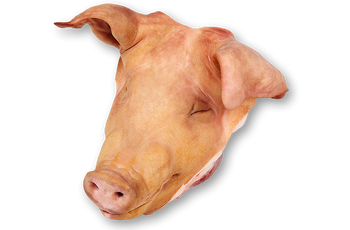 Pork head tongueless
