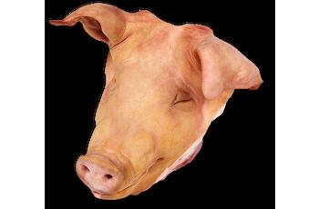 Pork head tongueless